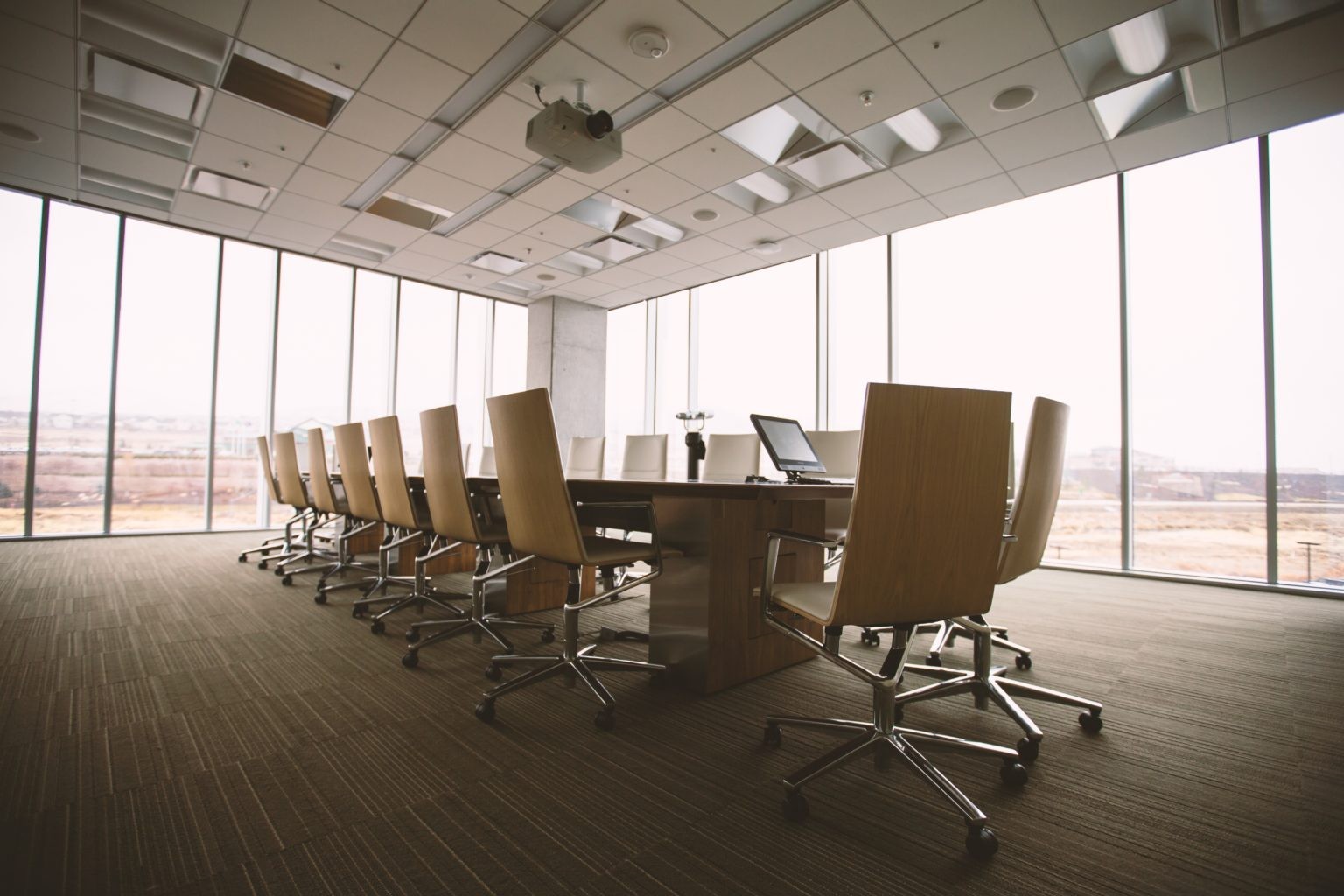 Chairs in a Meeting Room, and yet there is a sense of an Underlying Message...