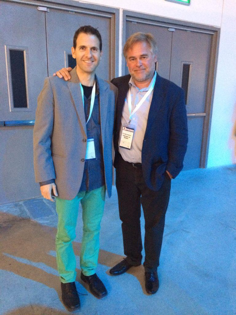 Eugene Kaspersky (CEO, Kaspersky) & Haggai Yedidya. If I was In my Booth, I'd Miss this Networking Opportunity...