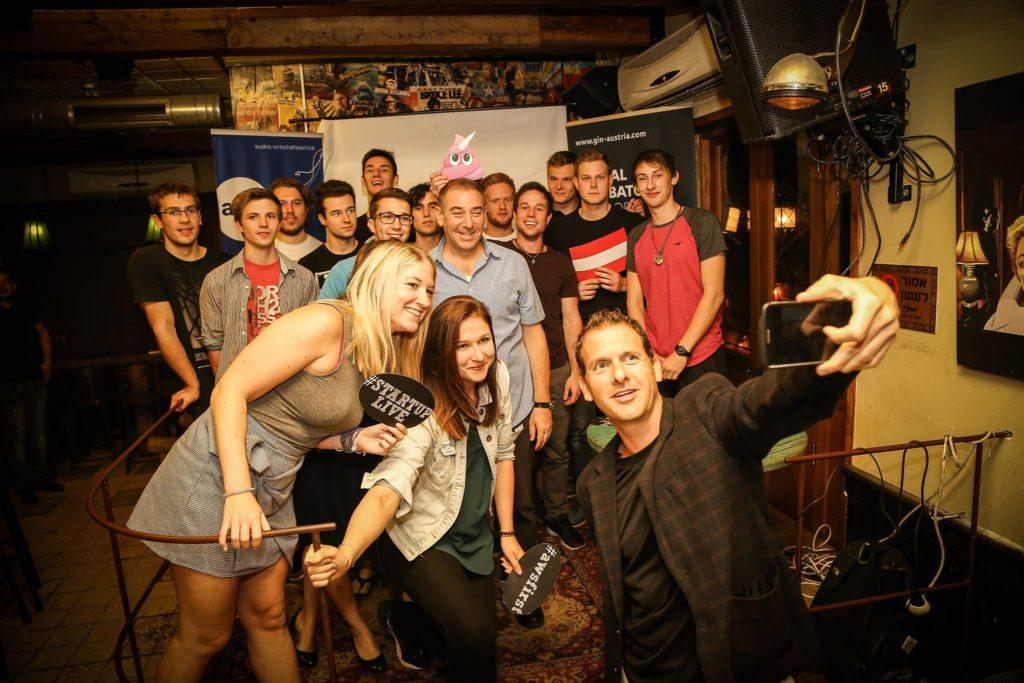Startup Live - an Australian Startup Competition - Haggai Yedidya (a Judge), Tal Catran (judge) and the Gang :)