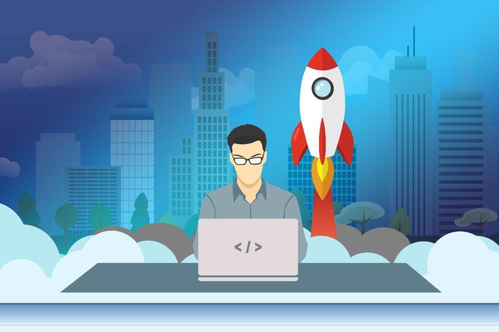 Keeping the Momentum:.a Startup Entrepreneur Follows up via his Laptop