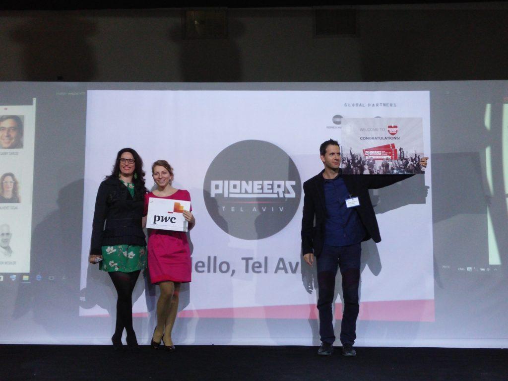 Haggai Yedidya of Cyber DriveWare Winning the Pioneers Startup Competition TLV חגי ידידיה - זכייה בתחרות סטארטאפ